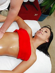!8 year old Brunette with a sweet ass gets massaged and fucked hard