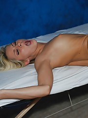 Super Hot 18 year old blonde fucked hard by her massage therapist