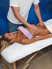 !8 year old bombshell fucked hard and facialed by her massage therapist