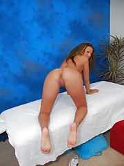 Beautiful 18 year old fingered and fucked during a massage session