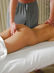 Hot 18 year old gets massaged and penetrated