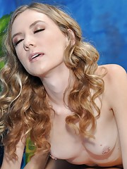 Naughty blonde massage therapist Alison gives a little more than a massage!
