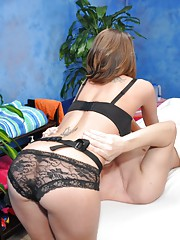 Naughty girl Brooklyn fucks her massage client after a rub down