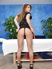 Hot 18 year old Mali gives MORE than just a massage!