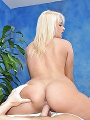 Naughty girl Ivana fucks her massage client after a rub down