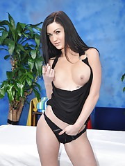 Naughty girl Kendall fucks her massage client after a rub down