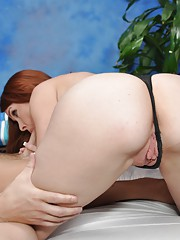 Cute 18 year old massage therapist Melody gives a little more than a massage!