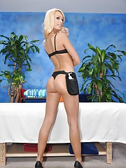 Hot 18 year old Erica gives MORE than just a massage!