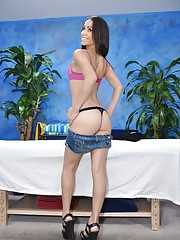 Hot 18 year old Gracie gives MORE than just a massage!