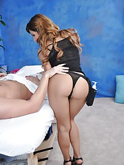 Hot latina fucks and sucks her massage patient