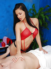 Hot and sexy 18 year old gives a sexy massage with a happy ending