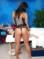 Gorgeous !8 year old girl gives her patient a sensual and steamy rubdown!