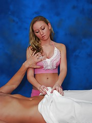 Cute 18 year old gives a sensual massage
