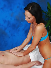 Hot 18 year old Jessica gives a sex massage