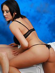 Gorgeous 18 year old gives an exotic massage with a happy ending!