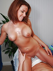 Hot 18 year old red head gives a SENSUAL massage!