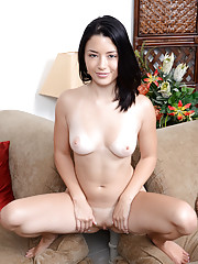 Gorgeous Nubile gets playful and horny after stripping