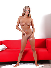 Girl next door Tracy Loves slides her fingers inside her scrumptious pussy