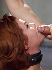 Gorgeous nympho anal MILF Veronica Avluv face fucked, brutal reverse cowgirl, bent over anal gape and begging for the come.