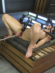 Hot new babe with magical pussy gets machine fucked until she squirts. Gags, rope, custom sex robots & endless pussy power!