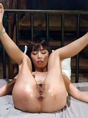 Japanese Anal Whore with Lesbian Domme