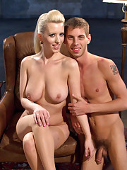 18 year old slaveboy spanked, fucked and stroked by gorgeous blonde dominatrix!