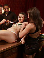 19 Year old Goes Piss on herself, gets sushi eaten off her, Plugged with an Electric Pussy Plug, Tied up and Fucked Hard while eating ass and sucking