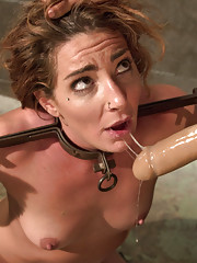 Savannah Fox gets fucked by sadistic lesbian prison guard with spanking, fisting, anal and fisting!