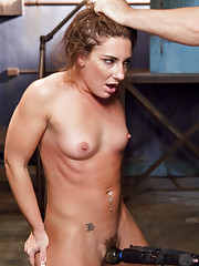 Savannah Fox is made to exercise, trained in deep throat fucking, hardcore reverse cowgirl training, orgasm denial, cattle prod