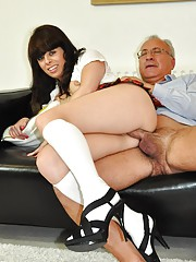 Fucked by old senior cock