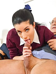 Young slut fucking old guy