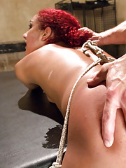 Submissive anal bondage slut, rough sex and bondage, electricity play with Daisy Ducati