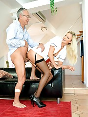 Blonde getting butt invaded