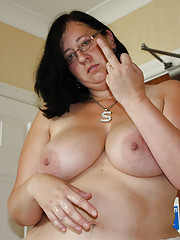Pretty big girl jerks cock