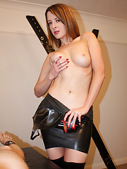 Mistress gives hot handjob