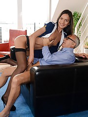 Jim Slip fucks a tall slut