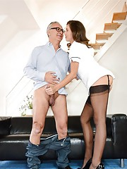 A hot nurse lays Jim Slip