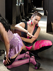 Jay Wimp pimped out, feminized and force bi by Bella Rossi with EXTREME ball busting.