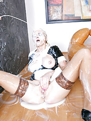 This maid gets a lot of cum