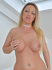Sinfully sexy mommy spreads open her soft pink pussy