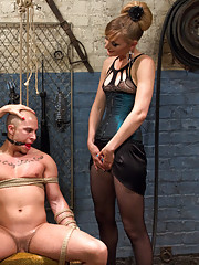 Lorelei Lee and Mona Wales punish, humiliate and use disrespectful cat caller.