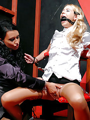 Mistress punishing a slave