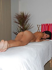 Super cute 18 year old brunette get massaged and fucked