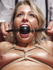 Tiny pussy bound and banged after loosing poker game, tight bondage, multiple squirting orgasms