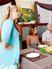 Jada is having Easter brunch with family and some new friend's, Johnny Sins and Dani Daniels. The problem is that her family always gets into giant arguments during Easter brunch. Jada finally has enough and storms off to her room to hang out with he