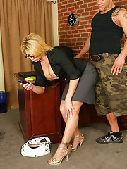 Derrick's having a hard time concentrating in Brooke Haven's class � seriously, a very hard time. So he makes every effort to be near her, from wiping chal