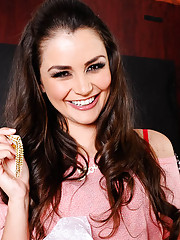 Allie Haze is at a party with her husband and she gets so hot and bothered that she needs to take care of it. She leads her husband to a more private area of the party where she begins to whip out his massive cock and sucking on it before taking it in her