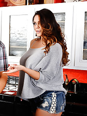 Alison Tyler is over at her friend's house for the party, but Alison is more interested in partying with her friend's husband. She's heard stories about how big his cock is and she wants to see it for herself. Her friend's husband is a