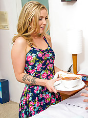 Karla Kush heard that her friend's husband was sick so she stopped by with some soup. It's such a shame that her friend leaves her husband all alone to fend for himself when he's sick. Karla decides to stay for a bit and keep him company. S