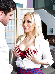 Ashley Fires is mistaken for the help by her boyfriend's son, Preston. Preston always fucks the help, so he can't wait to get his hands on Ashley. When he finally finds out that Ashley is his dad's new girlfriend he backs off, but Ashley wa